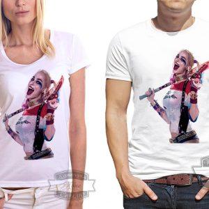 Мужчина и женщина в футболке с харли квинн