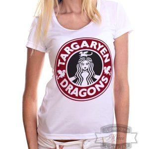девушка в футболке таргариен драгонс