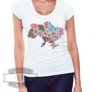девушка в футболке украина