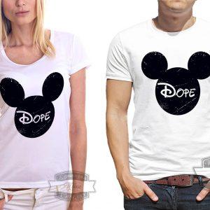 мужчина и женщина в футболке Dope