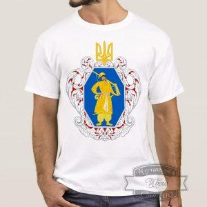 Мужик в футболке с гербом