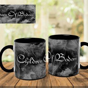 Черная кружка с Children Of Bodom