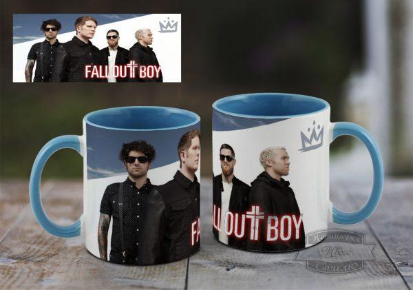 кружка с мужчинами из Fall out boy