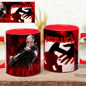 красная кружка с Metallica