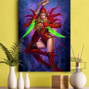 Постер с эльфийкой