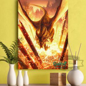 Постер с драконом