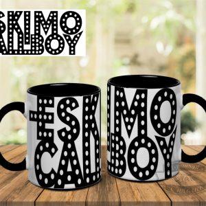 кружка с надписью Eskimo Callboy