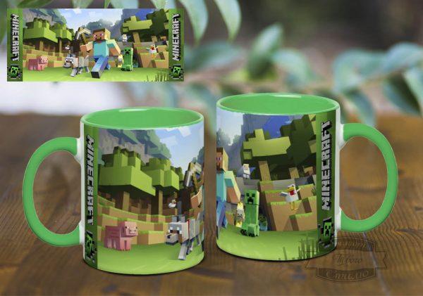 салатовая кружка Minecraft