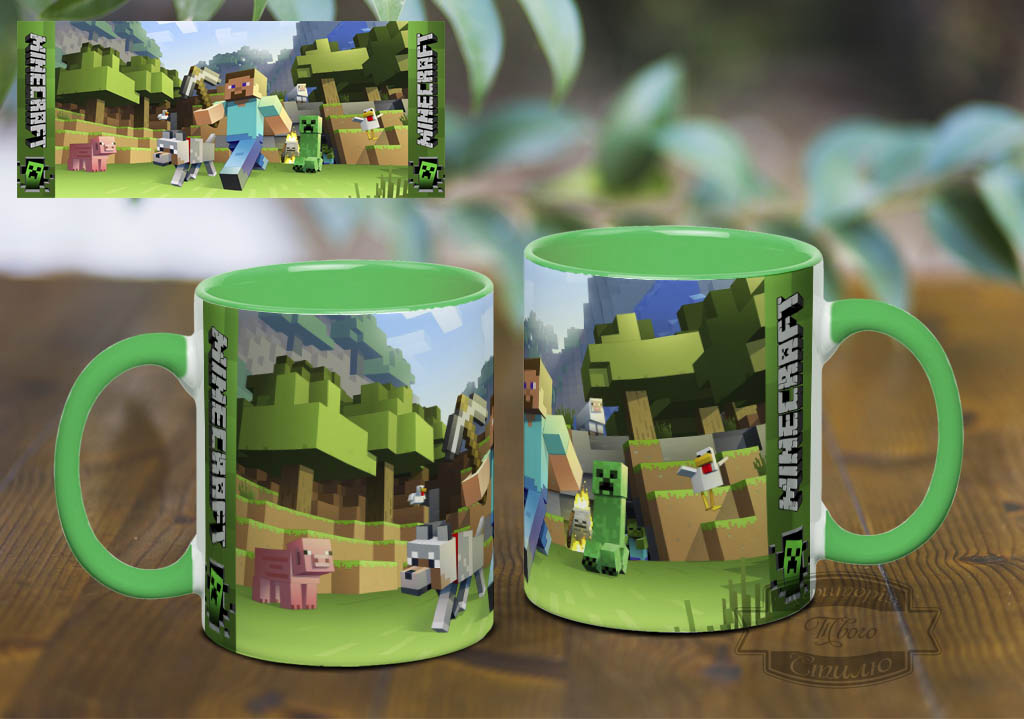 Чашки с рисунком майнкрафт