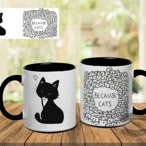 Кружка с котом и надписью