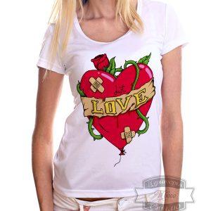 футболка с сердцем Just love