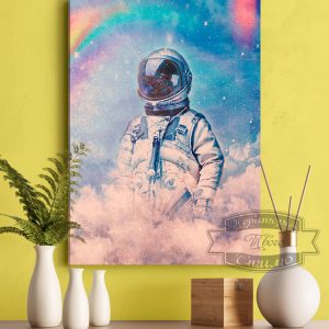 картина с космонавтом