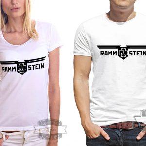 Мужчина и женщина в футболке Rammstein