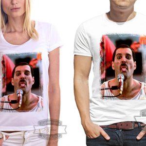 пара в футболке с Фредди Меркюри
