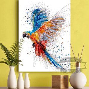 Постер с попугаем