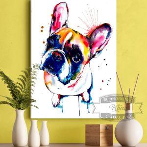 Картина с собакой