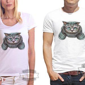пара в футболках с чеширским котом