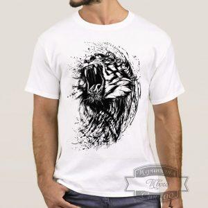Футболка с злим львом