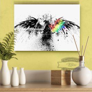 картина со спектральным орлом