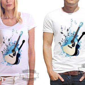 Футболка с акустической гитарой