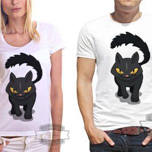 Футболка с черным котом
