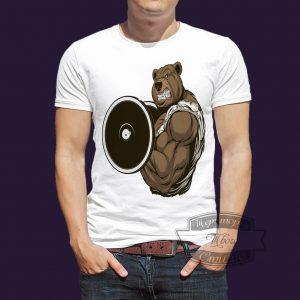 футболка ведмедь культурист