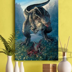 постер с тиранозавр