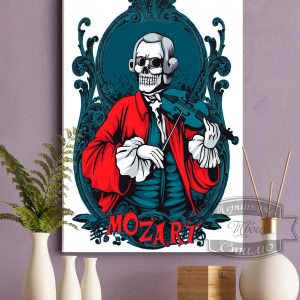 постер на ткани Моцарт