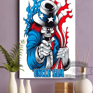 постер на ткани дядюшка Сэм