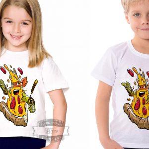 Футболка детская пица ниндзя