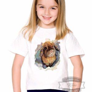 Футболка девочке с кроликом