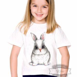 Футболка с кроликом девочке