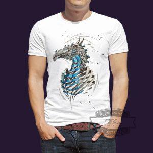 футболка ледяной дракон