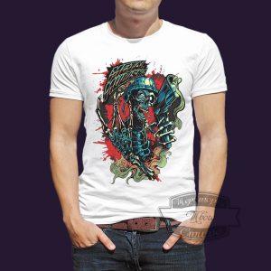 футболка разноцветный череп