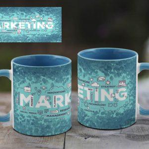 кружка маркетологу синяя