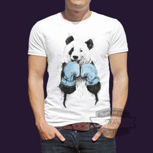 футболка панда боксер