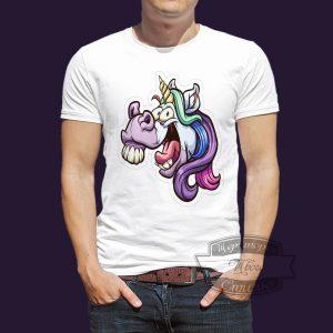 футболка поехавший единорог
