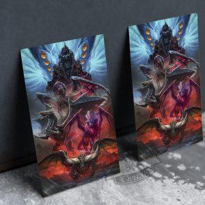 фото постер на металле враги Годзиллы