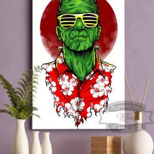 картина постер Франкенштейн на Гавайях