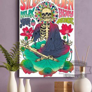 постер скилет в лотосе