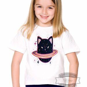 Футболка детская с планетой котик