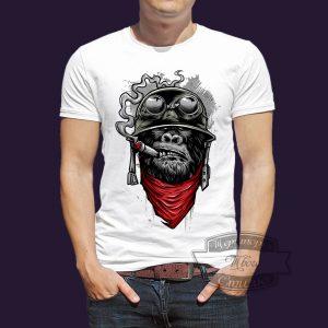 футболка Кинг Конг байкер