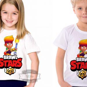 Футболка детская brawl stars Бравл Старс Амбер Amber