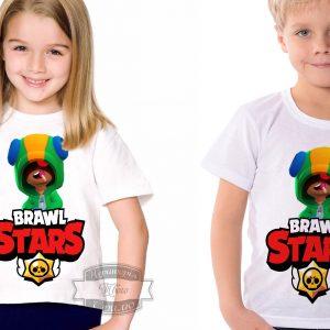 Футболка детская brawl stars Бравл Старс Leon Леон