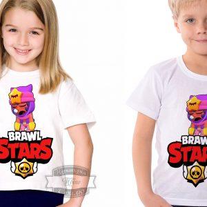 Футболка детская brawl stars Бравл Старс Сэнди