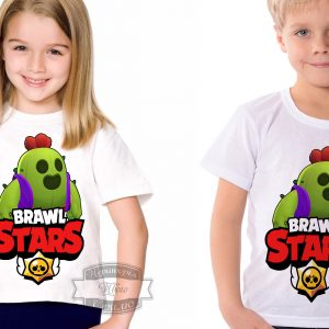 Футболка детская brawl stars Бравл Старс Спайк Spike
