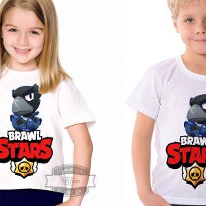 Футболка детская brawl stars Бравл Старс Ворон Crow