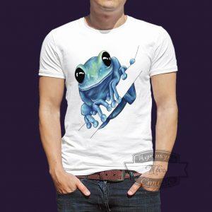 футболка с жабой