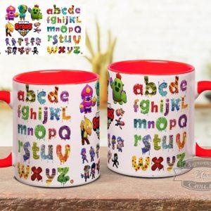 Чашка з англійським алфавітом бравл старс