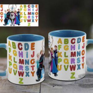 Чашка з англійським алфавітом крижане серце